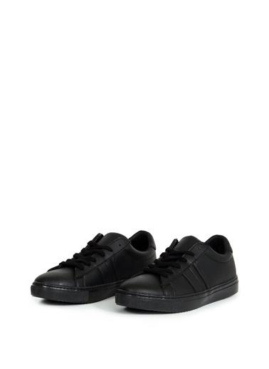 Collezione Siyah Yan Parça Dikiş Detaylı Bağcıklı Erkek Sneaker Siyah